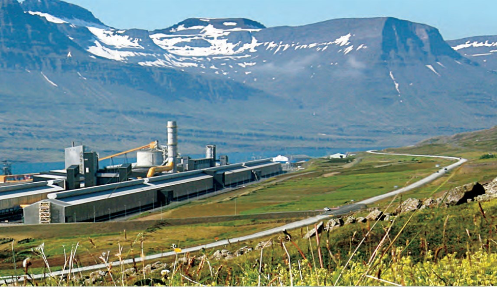 Figure 4. Alcoa Fjardaál aluminum smelter in Iceland.