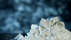 Scandium oxide powder.