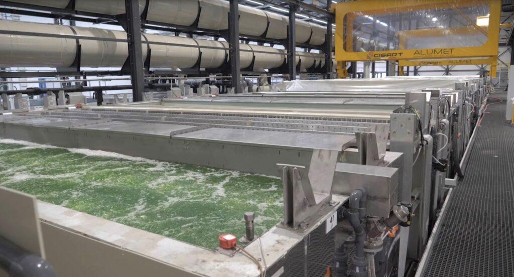 Alumet's new aluminum anodizing line in the Netherlands.