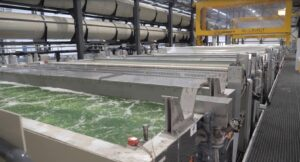 Alumet's new aluminum anodizing line in the Netherlands.