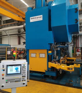 The new, fully automatic 2,500-ton closed-die forging line at Ningbo Xusheng Auto Technology. (Photo: SMS.)