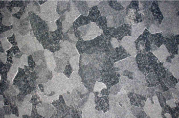 Figure 2. Top image shows a very fine grained microstructure and the image in the bottom a very coarse grained one—both found on the same aluminum part made of EN AW 6061 aluminum alloy.