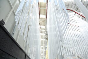 Figure 3. Vertical powder coating lines provide high quality painted surfaces.