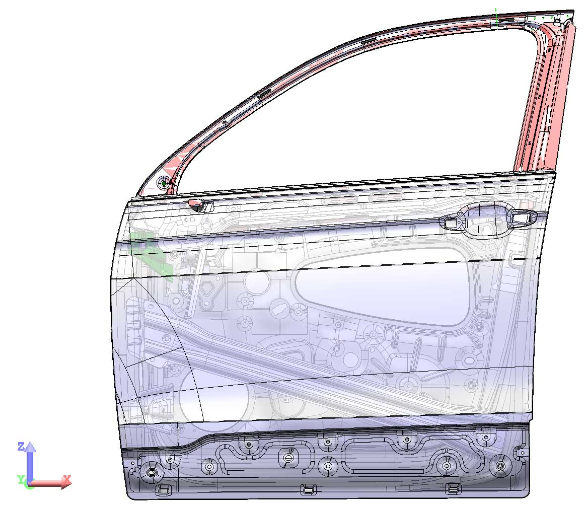 Automotive Innovation - One Alumobility research project focused on developing an aluminum door for SUVs that could provide a weight savings of up to 45% over steel.