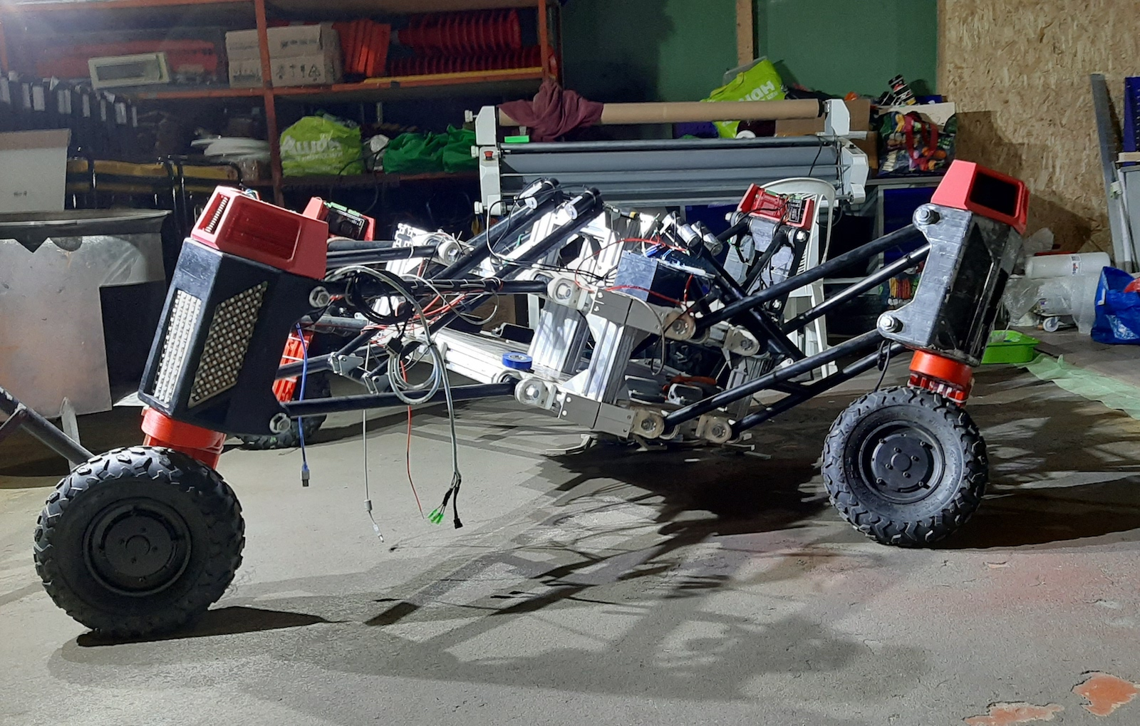 Figure 5. An agricultural robot for collecting information in farm fields won an honorable mention.