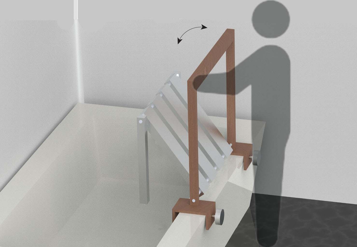 Figure 6. An honorable mention was awarded for the Showfold, an assistive shower seat device.