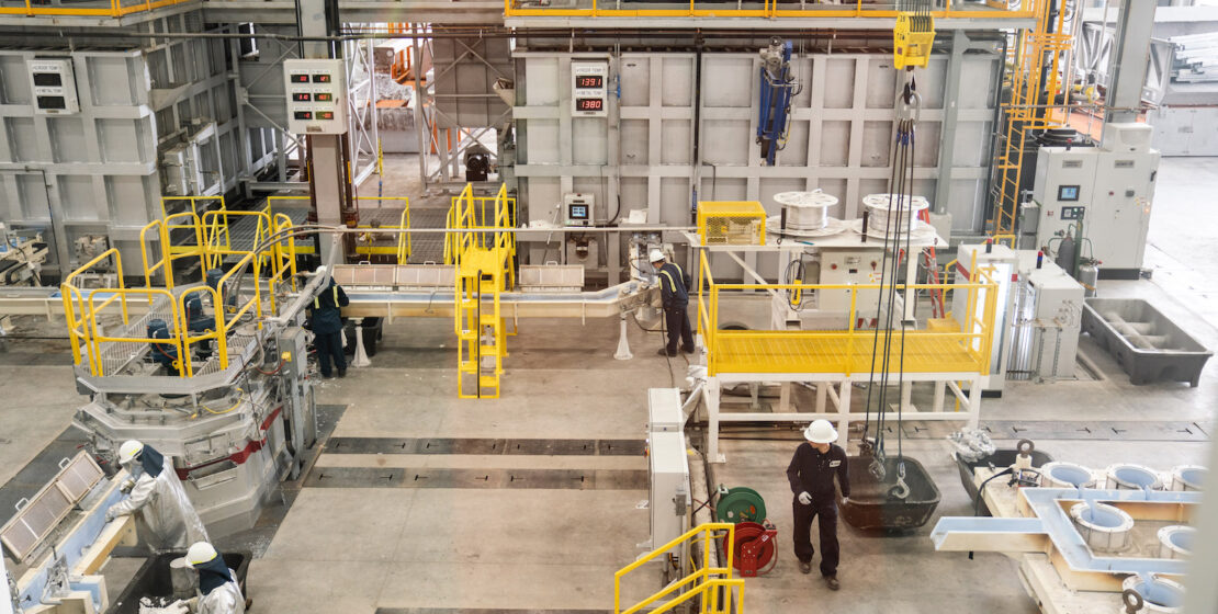 The new casting facility at Western Extrusions.