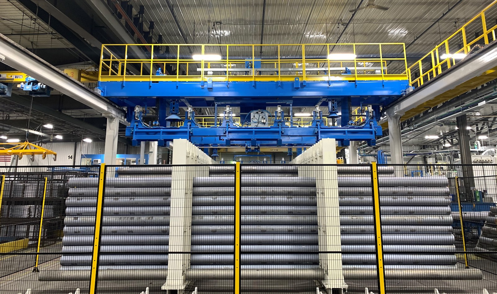 Figure 2. The automated log storage system is capable of storing more than 500 logs.
