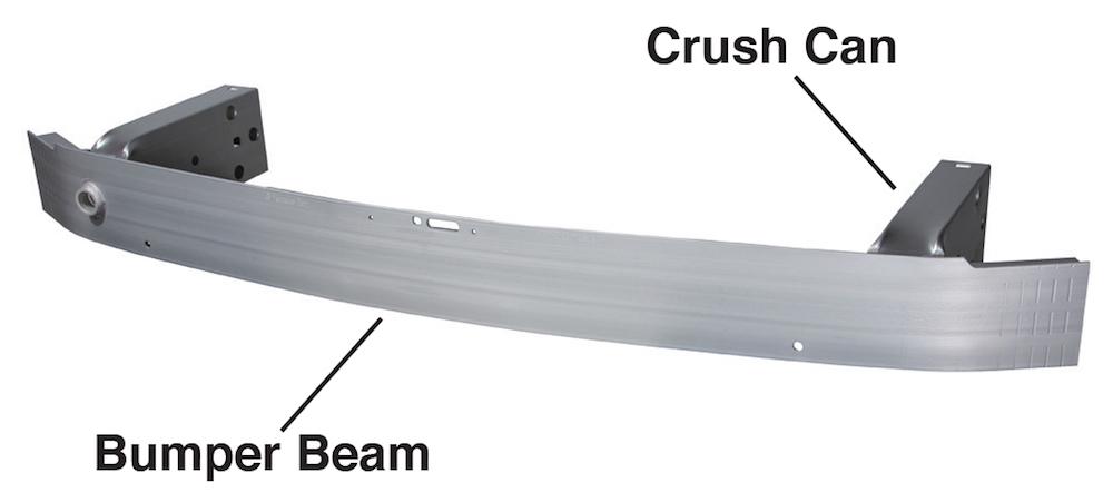 Figure 2. An aluminum bumper beam assembly for crash management. (Source: Constellium.)