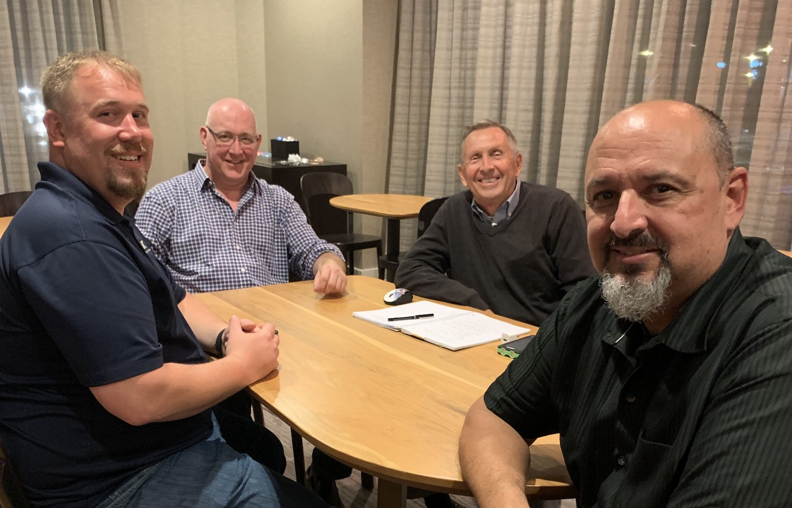 Gillespie & Powers and Thorp Technologies come together: Jack Gillespie, John Peterman, John Allen, and Gary Hodge>